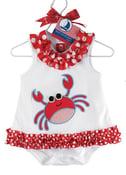 Image of Red Crab Romper