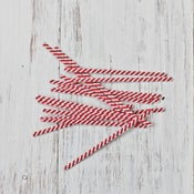 Image of Red Stripe Twist Ties