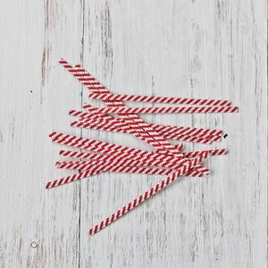 Image of Red Stripe Twist Ties