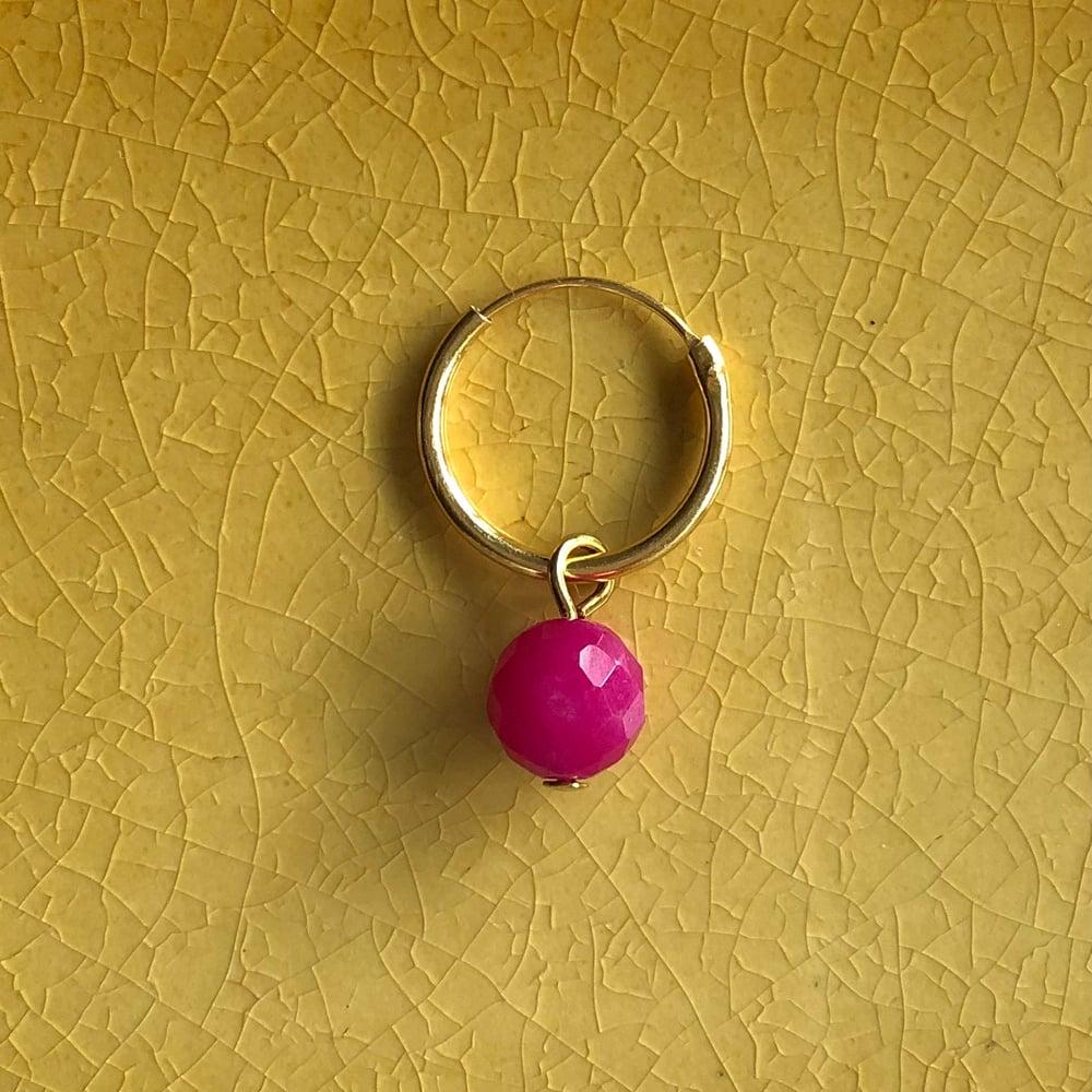Image of Örhänge rosa jade