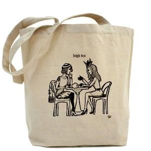 Image of HIGH TEA canvas tote bag