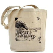 Image of DUNES DAY canvas tote bag