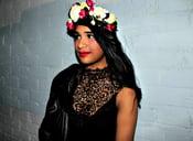 Image of Silk multi colour floral crown