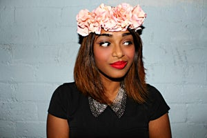 Image of Pink fabric floral crown