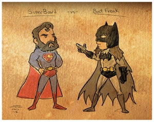 Image of Superbeard vs. Batfreak