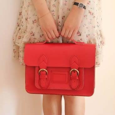 Image of Handmade Genuine Leather Satchel / Messenger Bag / Backpack (s1-1)