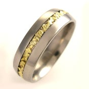 Image of Unique Titanium Band with Gold Nuggets