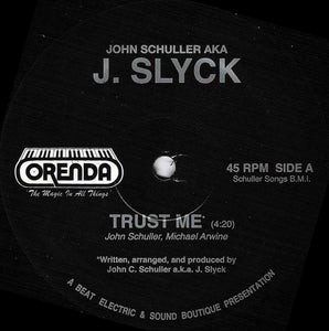 "Image of SLYCK - Trust Me - Talk To Me OFFICIAL PRESS 45RPM 12"" Boogie funk"