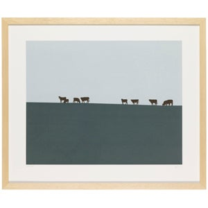 Image of Cows on a Hill (dusk)