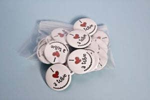 "Image of 1.5"" Round Button - I HEART a Tubie"