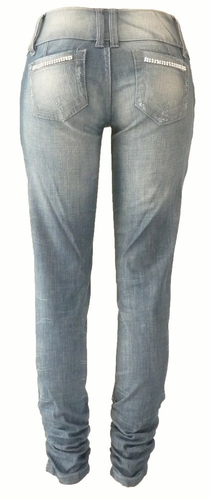 'Fancy' Ruched Jeans 4W5074P