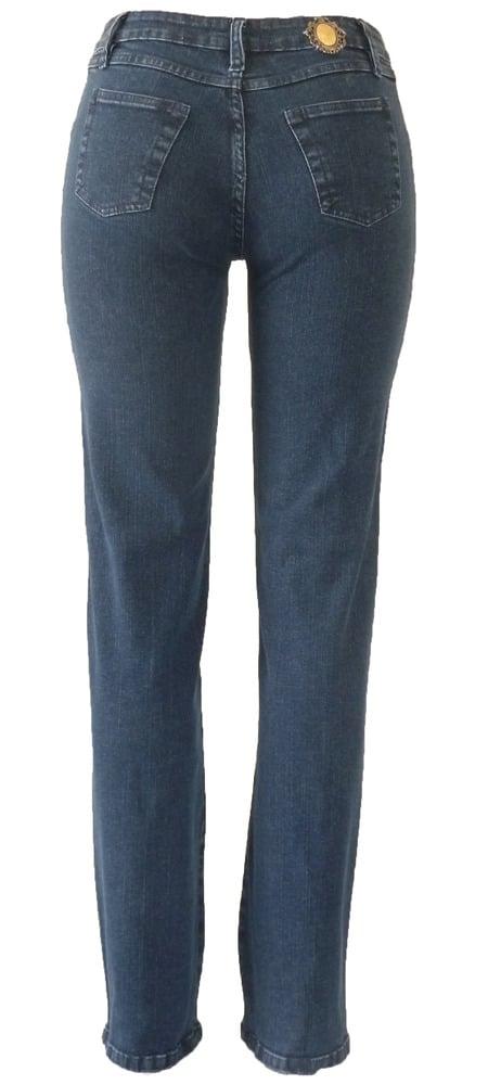 Mid Blue Tonal Swirl Jeans 11S2430P