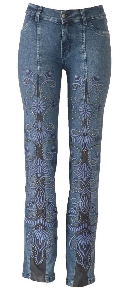 Image of Mid Blue Cavalier Jeans LQF3122P
