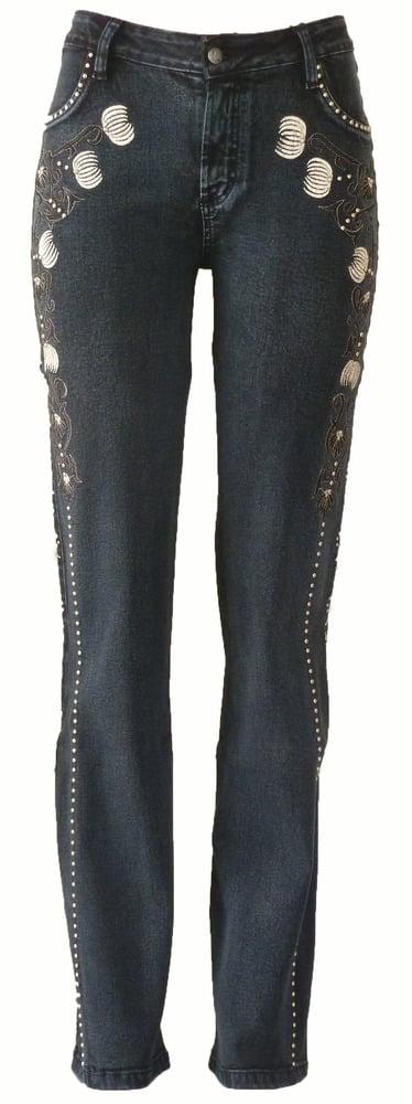 Black Corrosion 'White Dandelion' Jeans 7S1028P