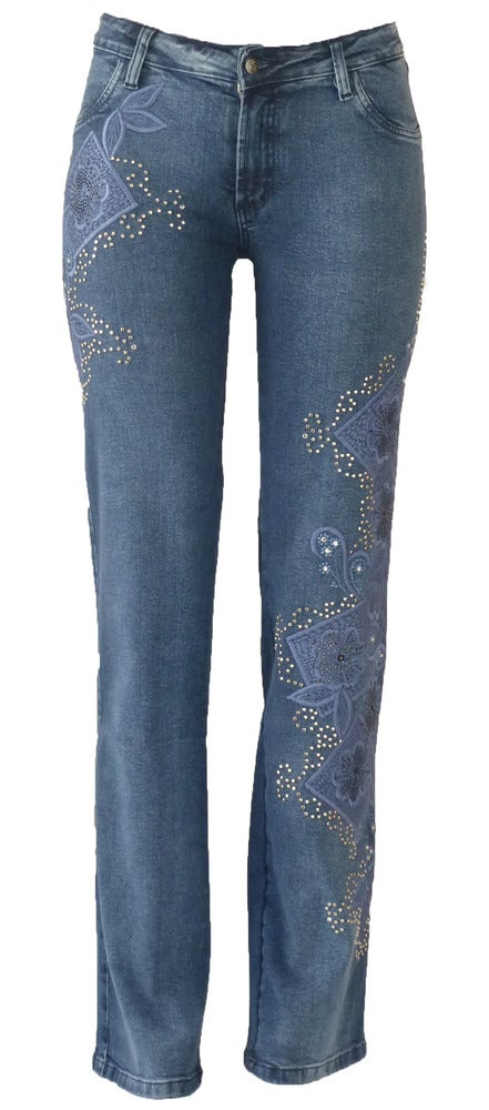 Mid Blue 'Boxed Floral' Jeans 8W7046BLUEP