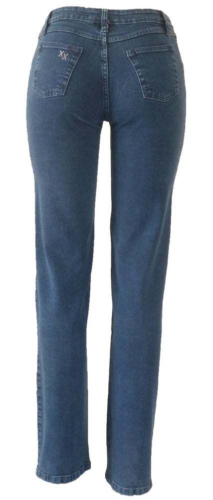 Image of Mid Blue 'Boxed Floral' Jeans 8W7046BLUEP