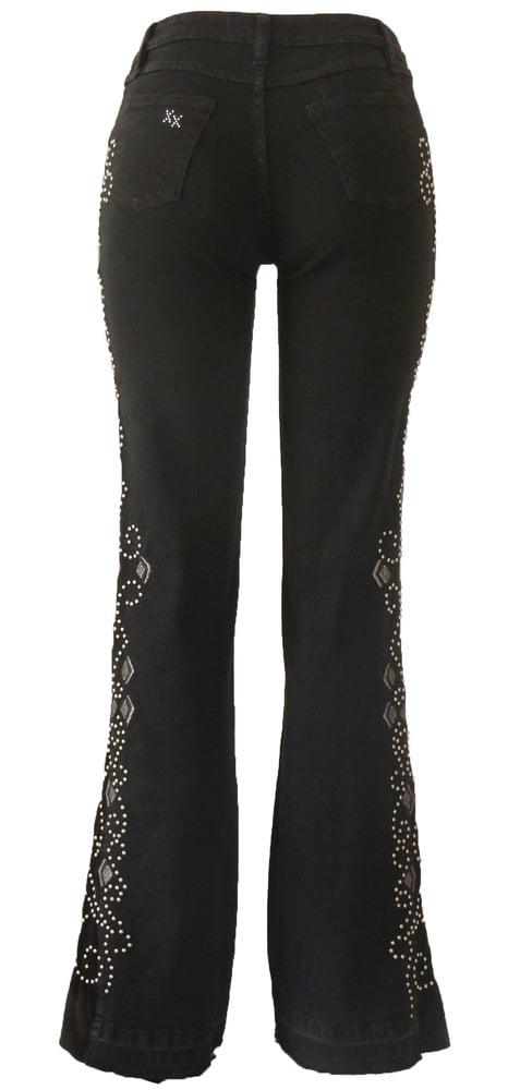 Black 'Diamond Heart' Jeans LQF2007BLSVP