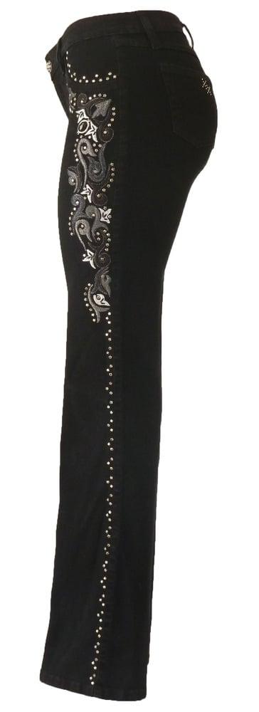 Black Tonal Swirl Jeans 11W2502P