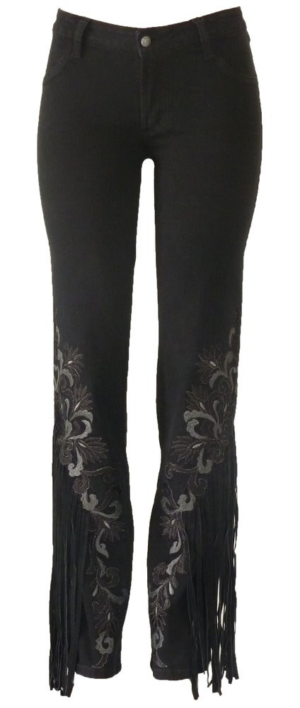 Black 'Urban Cowgirl' Jeans 11W2509P