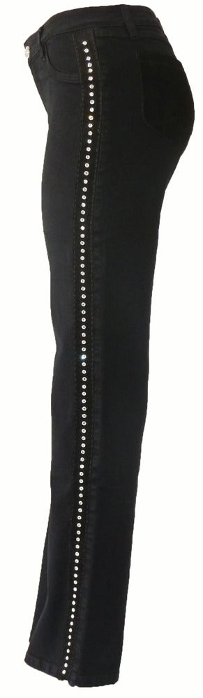 Black 'Crystallized' Jeans 4W1001P