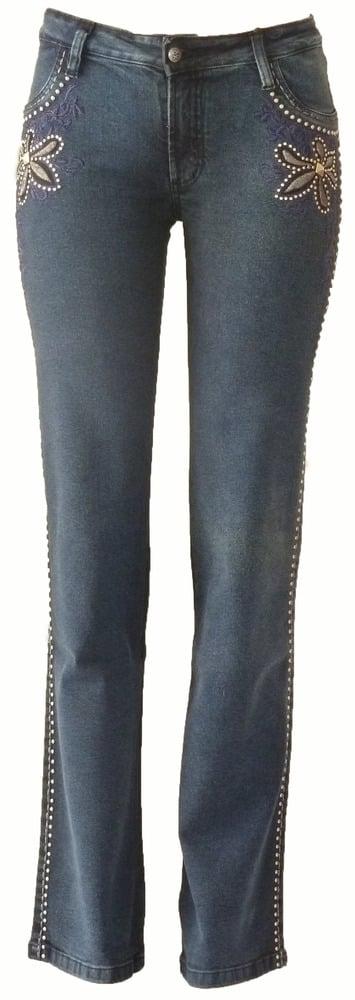 Image of Marine Timeless 'Fluer De Lis' Jeans 6W2026MARP