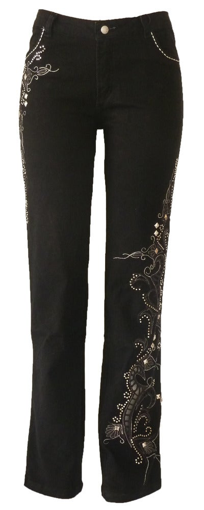 Image of Black Richelieu Timeless Jeans 7S1046P