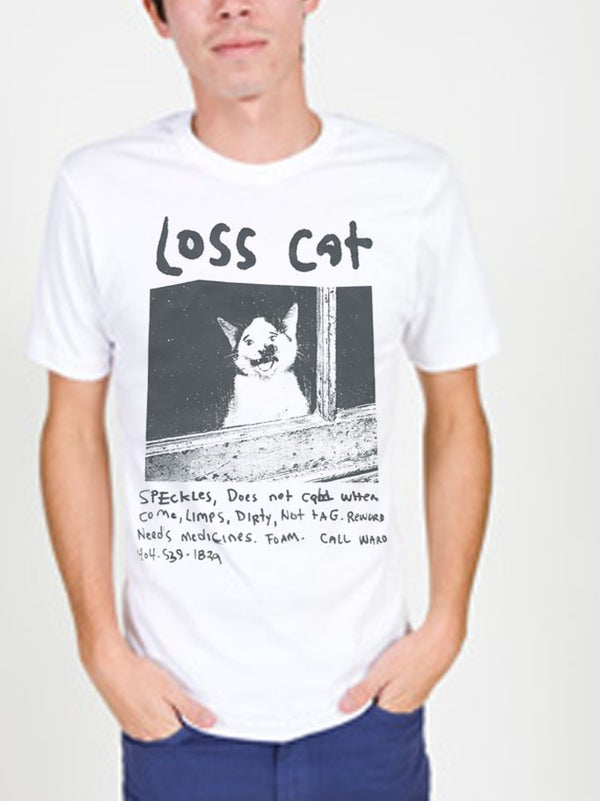 Image of Loss Cat Mega Print Tee