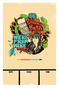 "Image of ""We're From Here"" Official tour poster"