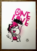 Image of One Love - Hand pulled A3 screen print