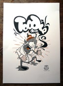 Image of Toodle Doo - Hand pulled A3 screen print