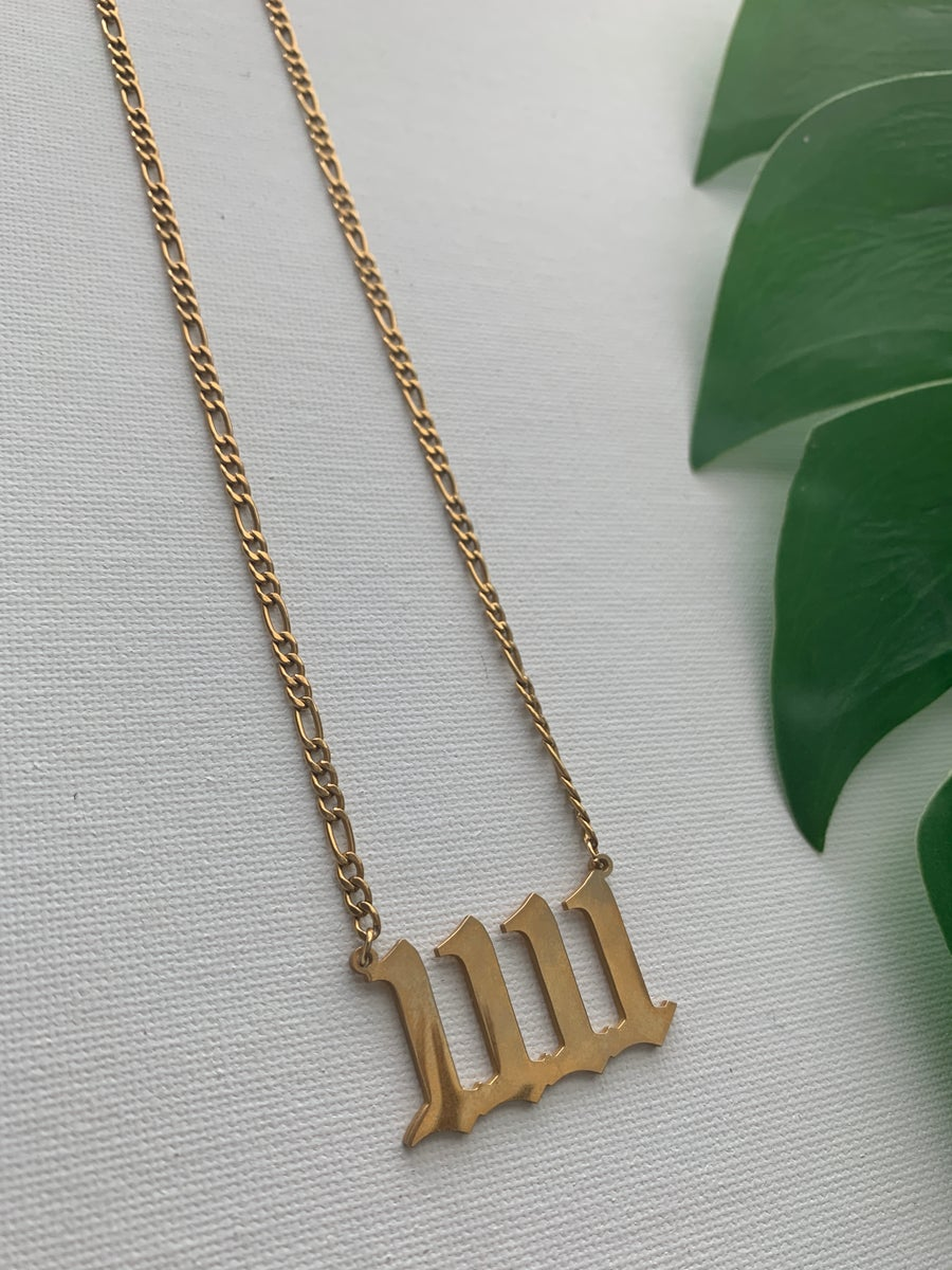 Image of 11 LONG • 1111 Angel Number Necklace