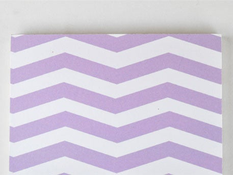 Image of ZIGZAG BLANK PURPLE NOTEPAD