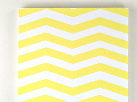 Image of ZIGZAG BLANK YELLOW NOTEPAD