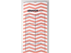 Image of ZIGZAG SHOPPING CORAL NOTEPAD