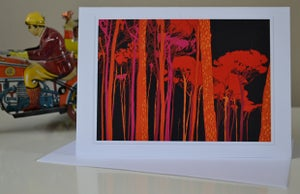 Image of Row of Trees Greeting Cards