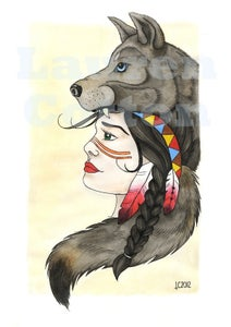 """Image of """"A Wolf's Tail"""" Giclee Print"""