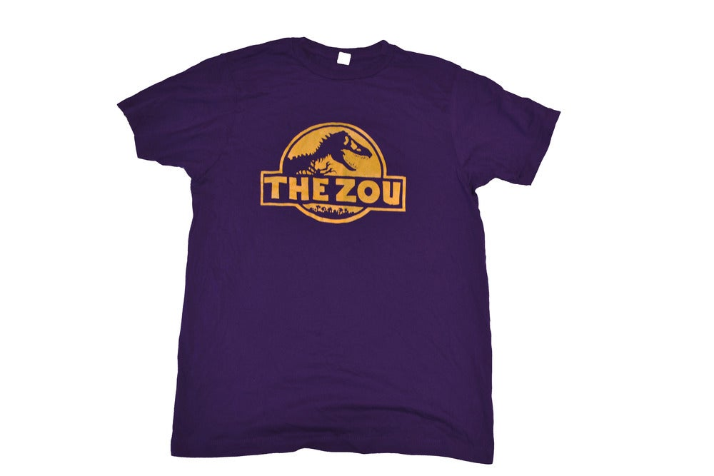 Image of Unisex Purple w/Yellow Zou Dino Tee (free shipping)