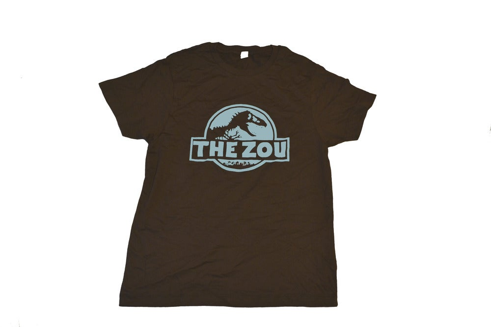 Image of Unisex Brown w/Blue Zou Dino Tee (free shipping)