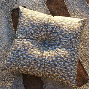 Image of CARS square buttoned cushion