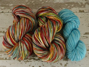 "Image of ""Freedom Rainbow"" 8oz 3ply BBR Merino + 2oz trim"