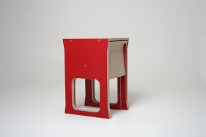 Image of Teanest Compact Table and Chairs RED