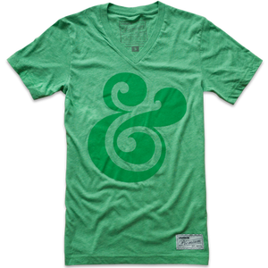 Image of PREMIUM AMPERSAND V-NECK (GREEN)