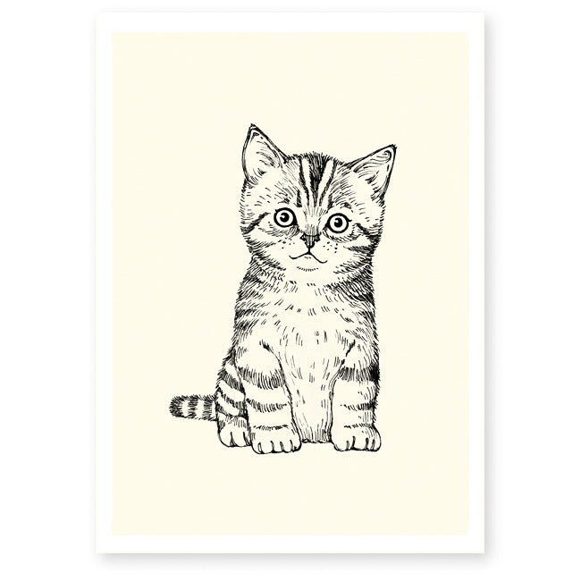 Image of Affiche A4 Chaton