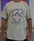 Image of SHOP LOGO T - SAND W/ NAVY