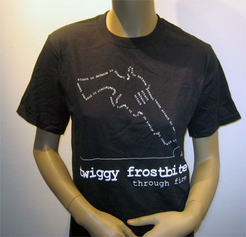Image of Twiggy Frostbite (Black T-shirt)