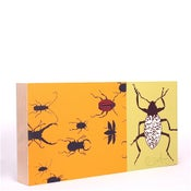 Image of Yellow with Beetles 18 x 9