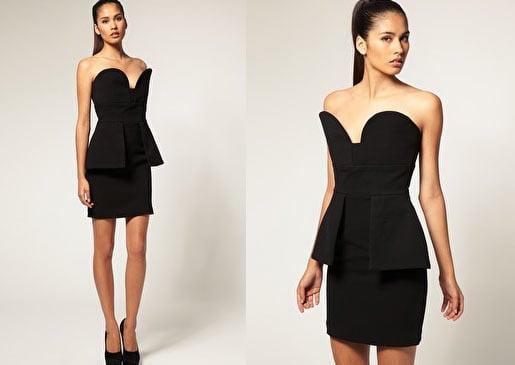 Image of Aqua Couture Vendella Peplum Dress, size 8