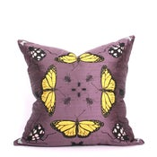 Image of Eggplant Kaleidoscope Pillow 21 x 21