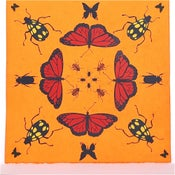 Image of Orange Kaleidoscope with Butterflies 21 x 21