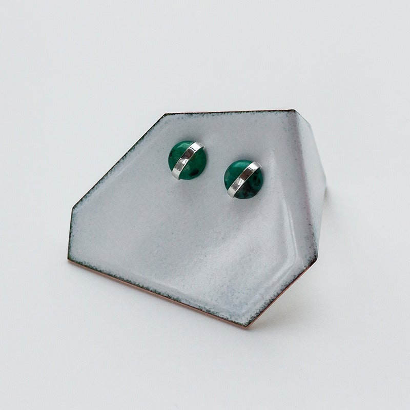 Image of Better Late Than Never Jasper Cabochon Studs